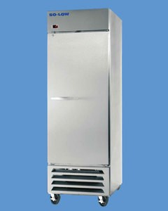 Automatic Defrost Freezer, 23 Cubic Feet, Temp Range -10°C to -30°C, Digital display With Hi/Low Alarm, 3 shelves, exterior dimensions WDH 27.25'' x 33.75'' x 81'', 1ea