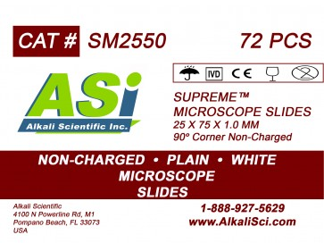 Asi Supreme Plain Surface Non Charged Microscope Slides