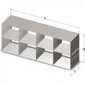 Upright Rack for High Boxes Containing 15 mL & 50 mL Tubes