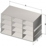 3x4 freezer rack for 2 inch boxes