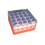Cryobox, PC, for 25x5ml tubes, suitable for -190˚C, 5-1/4 x 5-1/4 x 2-3/4, 5Pk