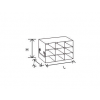 Upright Freezer Drawer Rack for 2 Inch Boxes, 3x3  Box capacity