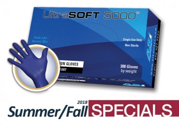 UltraSOFT 5000 Nitrile Powder Free Gloves