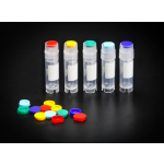 1.8ml Cryovial, External Threads Cap, Sterile, Self Standing, 50 sleeve,  500/Cs