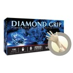 Diamond Grip Latex Gloves, Durable with Enhanced, Textured Fingertips