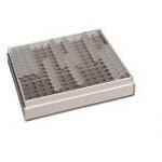 1 inch cardboard Freezer Box, fits 0.2ml PCR tubes (5 1/4 x 5 1/4 x 1 inches) with 196 place cardboard insert, 8mm cell opening/ each