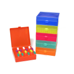 Plastic freezer boxes