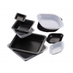 Square Weigh Boats, Black, 100ml, 80 x 80mm (500/Pk)