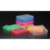 qPCR/PCR Tube Rack w Lid, (ASSORTED)  Fits 96 x 0.2ml Tubes, Strips or Plates, 5/PK
